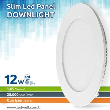 12watt Sıva Altı Led Panel Downlight Günışığı