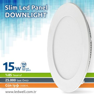 15watt Sıva Altı Led Panel Downlight Günışığı