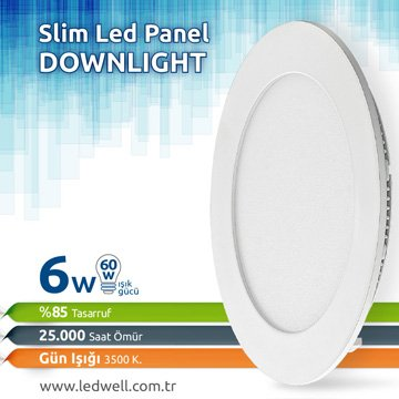 6watt Sıva Altı Led Panel Downlight Günışığı