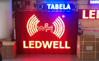 beyaz panel led tabela